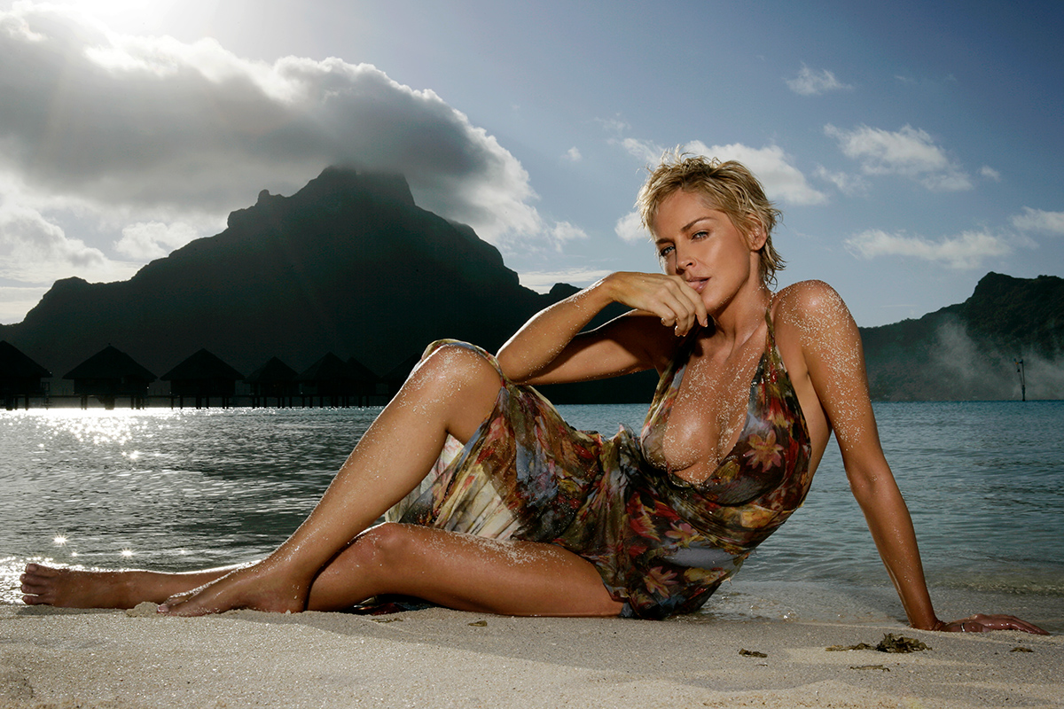 Sharon stone naked at beach congratulate, remarkable